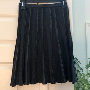Charcoal Flared Pencil Skirt